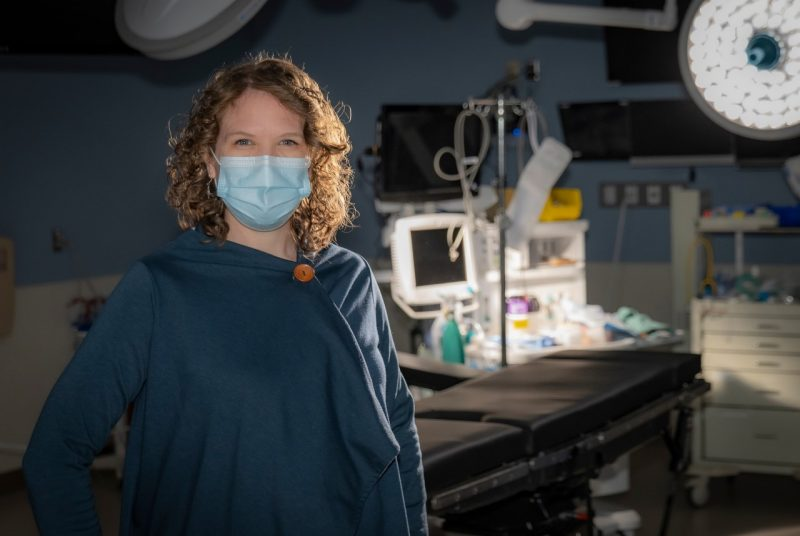 Sarah Parker at the Simulation Center