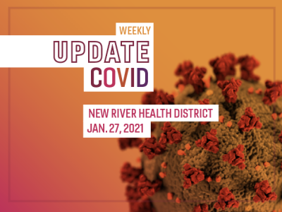 Weekly covid update graphic