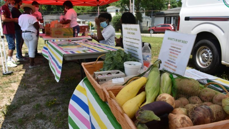 Food systems stories during COVID-19: The POP! Market (Petersburg Offers Produce) is a mobile market offering fresh, local food that presents Petersburg residents in low healthy food access areas with the opportunity to purchase healthy produce and maximize their SNAP benefits through the Virginia Fresh Match program.
