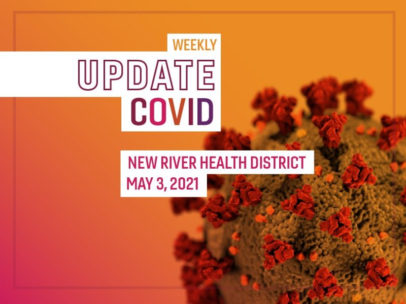 COVID-19 weekly  graphic